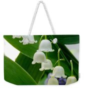 Lily Of The Valley Green Weekender Tote Bag
