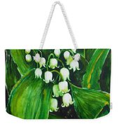 Lily Of The Valley Weekender Tote Bag by Zaira Dzhaubaeva
