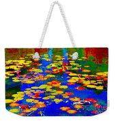 Lily Pads And Koi  Pond Waterlilies Summer Gardens Beautiful Blue Waters Quebec Art Carole Spandau  Weekender Tote Bag