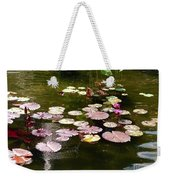 Lily Pads In The Fountain Weekender Tote Bag