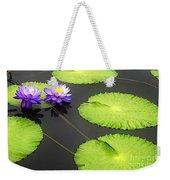 Lily Pads Purple Weekender Tote Bag