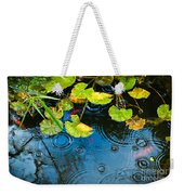 Lily Pads Ripples And Gold Fish Weekender Tote Bag
