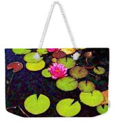 Lily Pads With Pink Flowers - Square Weekender Tote Bag