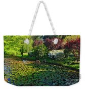 Lily Pond And Colorful Gardens Weekender Tote Bag