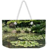 Lily Pond View Monets Garden Weekender Tote Bag