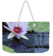 Lily Purple And White Weekender Tote Bag