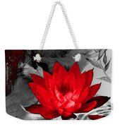 Lily Red And Koi Weekender Tote Bag