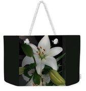 Lily White Weekender Tote Bag