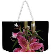 Lily With Buds Weekender Tote Bag