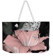 Lily With Butterly  Weekender Tote Bag