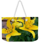 Lily Yellow Flower Weekender Tote Bag