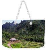 Limahuli Taro Fields In Kauai Weekender Tote Bag