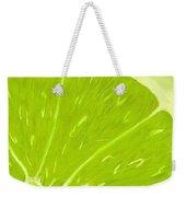 Lime Weekender Tote Bag by Anastasiya Malakhova