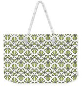 Lime Green And White Vines Weekender Tote Bag