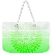 Lime Green Spirograph Weekender Tote Bag