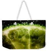 A Slice In Lime Weekender Tote Bag