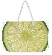Lime Slice Weekender Tote Bag