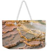 Limestone Terraces Yellowstone National Park Weekender Tote Bag