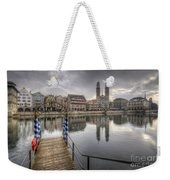 Limmat River Reflections Weekender Tote Bag