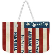Lincoln 1860 Presidential Campaign Banner Weekender Tote Bag