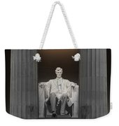Lincoln And Columns Weekender Tote Bag