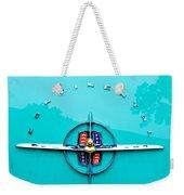 Lincoln Continental Rear Emblem Weekender Tote Bag by Jill Reger