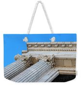 Lincoln County Courthouse Columns Looking Up 01 Weekender Tote Bag