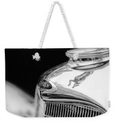 Lincoln Hood Ornament - Grille Emblem -1187bw Weekender Tote Bag