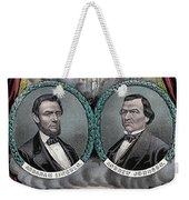 Lincoln Johnson Campaign Poster Weekender Tote Bag by Marvin Blaine