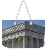 Lincoln Memorial Columns  Weekender Tote Bag by Susan Candelario