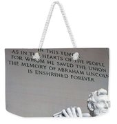 Lincoln Memorial Weekender Tote Bag