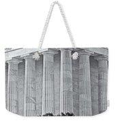 Lincoln Memorial Pillars Bw Weekender Tote Bag