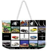 Poster Of Lincoln Cars Weekender Tote Bag