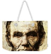 Lincoln Sepia Grunge Weekender Tote Bag
