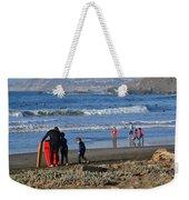 Linda Mar Beach Families Weekender Tote Bag