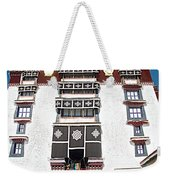 Line Of Pilgrims And Tourists Entering Former Living Quarters Of Dalai Lama In Potala Palace-tibet Weekender Tote Bag
