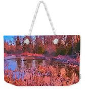 Linear Abstraction Of Pond Weekender Tote Bag
