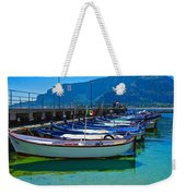 Lined Up Fleet In Sicily Weekender Tote Bag