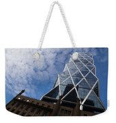 Lines Triangles And Cloud Puffs - Hearst Tower In New York City Weekender Tote Bag