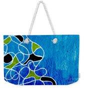 Linework Blue Weekender Tote Bag