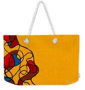 Linework Yellow Weekender Tote Bag