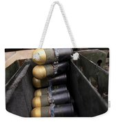Linked 40mm Rounds Feed Into A Mark 19 Weekender Tote Bag