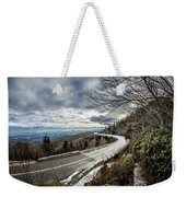 Linn Cove Viaduct During Winter Near Blowing Rock Nc Weekender Tote Bag