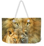 Lion And Lioness- African Royalty Weekender Tote Bag