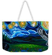 Lion And Owl On A Starry Night Weekender Tote Bag
