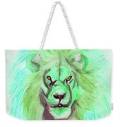 Lion Blue By Jrr Weekender Tote Bag