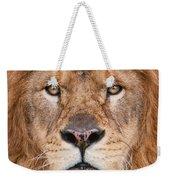Lion Close Up Weekender Tote Bag