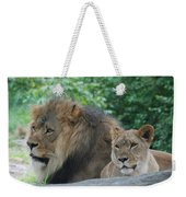 Lion Couple Weekender Tote Bag