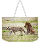 Lion Couple Weekender Tote Bag