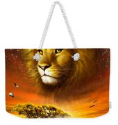 Lion Dawn Weekender Tote Bag by Adrian Chesterman
